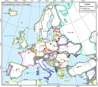 Geographical midpoint of Europe