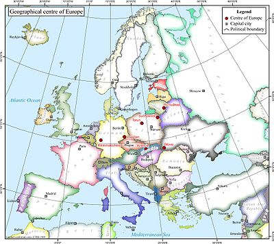 Geographical midpoint of Europe  Wikipedia