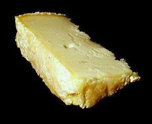 Chabichou - A small slice of Chabichou du Poitou AOC cheese.