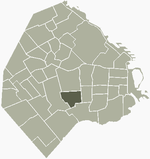 Location of Parque Chacabuco within Buenos Aires