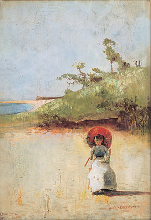 9 by 5 Impression Exhibition - Image: Charles Conder All on a summer's day Google Art Project