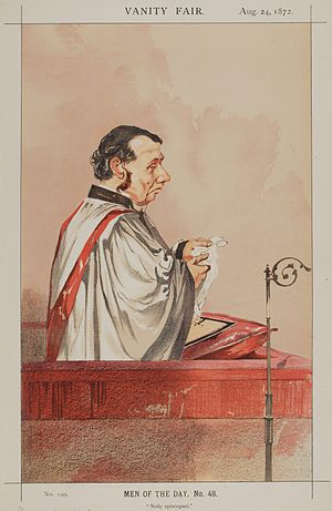 "Charles Vaughan (priest) - ""Nolo episcopari"" Chromolithograph caricature of Vaughan in Vanity Fair, 24 August 1872"