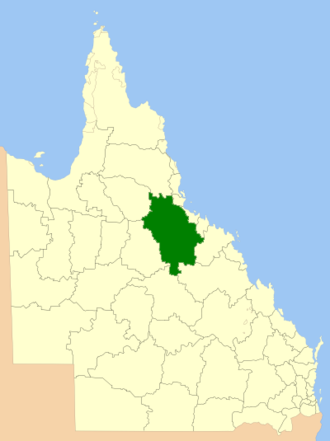Charters Towers Region - Location within Queensland