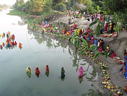 A Typical View of the Chhatt Ghat in a village in Bihar(Jagannathpur:Muzaffarpur)