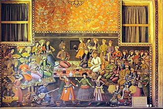 Nowruz - Shah Abbas and his courtiers celebrating Nowruz.