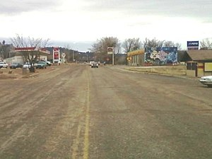 Cheyenne Avenue, yn it sintrum fan Lame Deer.