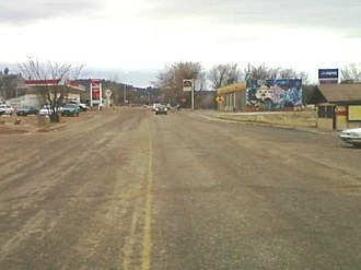 Lame Deer, Montana - Looking south on Cheyenne Ave near the center of town.