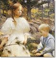 Children in the Woods 1898 Frank Weston Benson (2).jpg