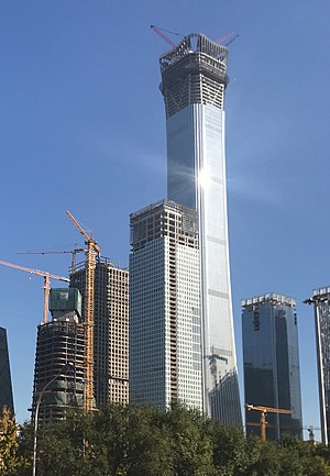 China Zun - Image: China Zun skyscraper under construction in November 2017