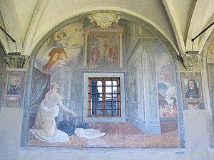 Mortification of the flesh - Image: Chiostro grande di smn, lato nord 05 cosimo gamberucci, flagellazione di s. domenico, 1581 84, 01