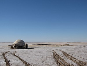 Chott el Djerid - The Lars Homestead set from Star Wars in Chott el Djerid.