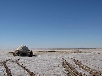 Chott el Djerid - The Lars Homestead set from Star Wars in Chott el Djerid.