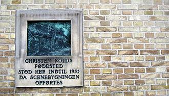 Christen Mikkelsen Kold - A commemorative plaque for Christen Kold in Thisted
