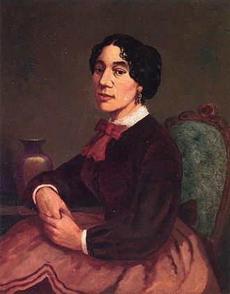 Christiana Carteaux Bannister - Portrait by Edward Mitchell Bannister