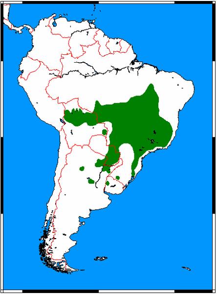File:Chrysocyon brachyurus range map.png