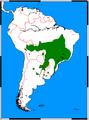 Chrysocyon brachyurus range map.png