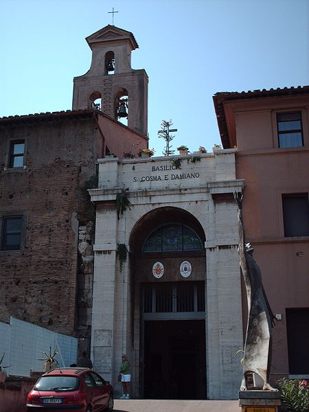 Ficheiro:Church of Saint Cosma and Damiano in Rome.jpg
