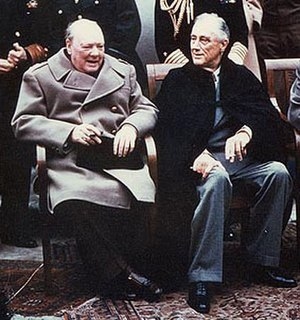 United Kingdom–United States relations - Winston Churchill and Franklin Roosevelt at Yalta in 1945