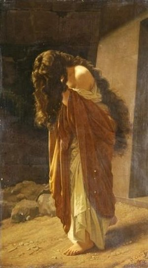 Antonio Ciseri - Image: Ciseri, Antonio Die büssende Magdalena 1864