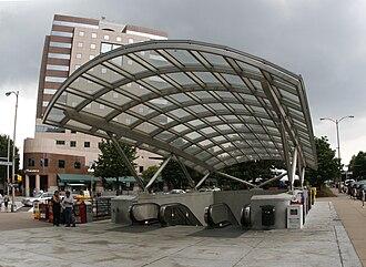 Clarendon, Arlington, Virginia - The Clarendon Metro station entrance in May 2008