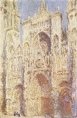 file claude monet la cath drale de rouen le portail au wikimedia commons. Black Bedroom Furniture Sets. Home Design Ideas
