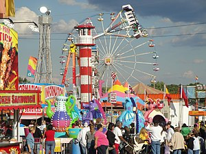 English: The Cleveland County Fair in 2010. Yo...