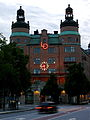Clock of the LO Castle of the Swedish Trade Union Confederation in Stockholm (6100445138).jpg