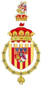 Coat of Arms of the Spanish Heir Apparent as Duke of Montblanc.svg