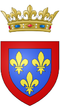 Coat of arms of Philippe, Duke of Anjou (future Duke of Orléans, brother of Louis XIV).png