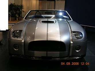 Ford Shelby Cobra Concept - The front of the Shelby Cobra concept.