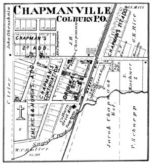 Colburn, Indiana - Colburn in 1878.