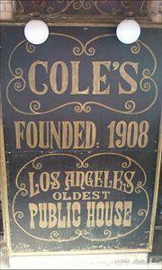 Coles Restaurant Downtown La