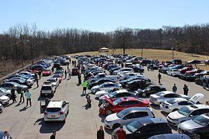 Car club - Car meet at Hoover Dam in Columbus, Ohio