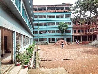 Comilla Modern High School - Internal view