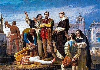"""The Comuneros Padilla, Bravo and Maldonado in the Patibulo"", by Antonio Gisbert, 1860. Comuneros.jpg"