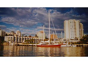 Condor of Bermuda - Condor of Bermuda, in Brisbane, Australia, under cruising colours in 2004.
