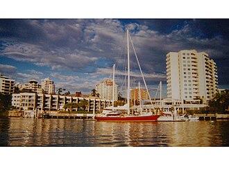 Condor of Bermuda - Condor of Bermuda, in Brisbane, Australia, under cruising colours in 2004.
