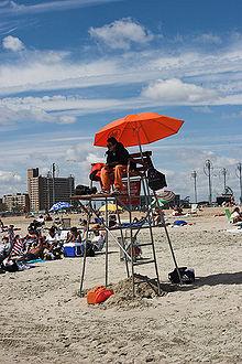 Lifeguard at Coney Island Beach