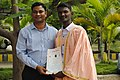 Convocation in 2017 @ solapur university, solapur with Anuj kadam.jpg