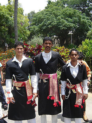 Kodava people - Kodava people in traditional dress