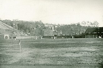 Edwin Sweetland - Cornell University's Percy Field c. 1905. Sweetland played football on this field as a student at Cornell as well as coached against his former school while coach of Hamilton and Syracuse.