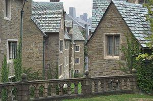 English: West Campus undergraduate dormitories...