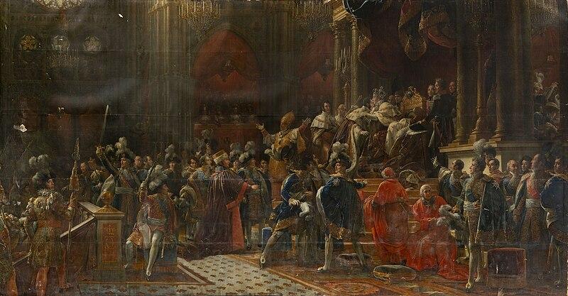 Fichier:Coronation of Charles X of France by François Gérard, circa 1827.jpg