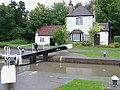 Cottage and gates at Hatton Bottom Lock near Warwick - geograph.org.uk - 1753269.jpg