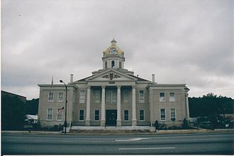 Chattooga County, Georgia - Image: Courthouse at Summerville, GA 001