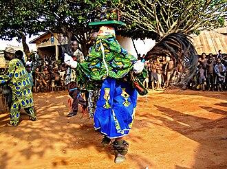 Yoruba art - The Gelede Masked Festival in Cové, Benin