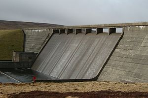 Cow Green Reservoir - The Dam at Cow Green