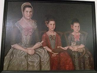 Ebenezer Crafts - Mrs. Ebenezer Crafts (1741-1812) and her daughters Matilda (1771-1848) and Augusta (1772-1861), 1781, by Winthrop Chandler