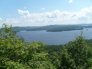 Cranberry Lake - View from Bear Mountain lookout over Cranberry Lake