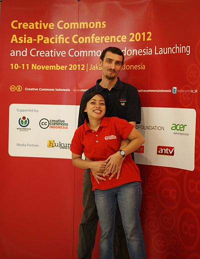 John & Siska, Creative Commons Asia-Pacific Conference 2012.